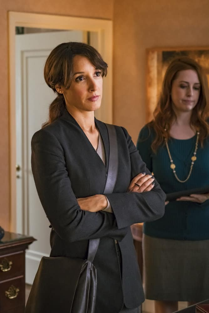 "TAKEN -- ""Charm School"" Episode 206 -- Pictured: Jennifer Beals as Christina Hart -- (Photo by Jan Thijs/NBC)"