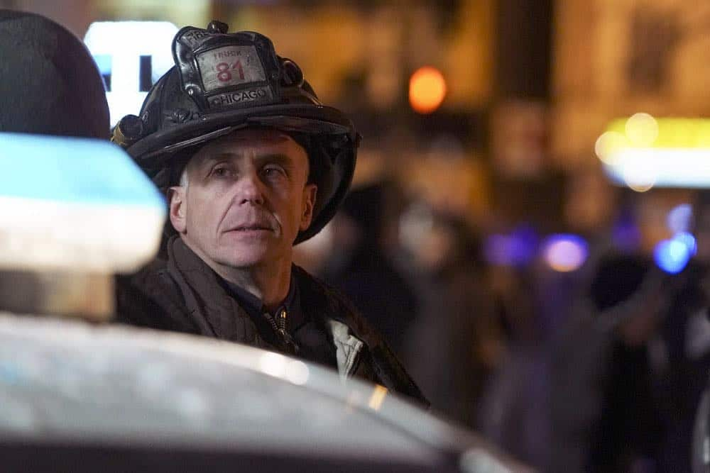 "CHICAGO FIRE -- ""Hiding Not Seeking"" Episode 613 -- Pictured: David Eigenberg as Christopher Herrmann -- (Photo by: Elizabeth Morris/NBC)"