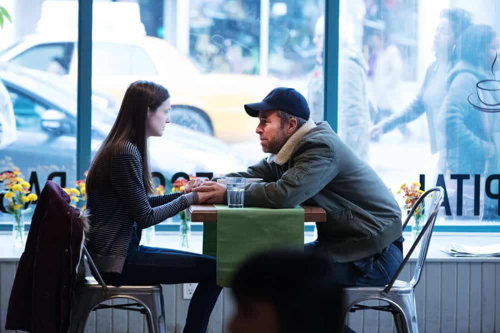 """FALLING WATER -- """"Risk Assessment"""" Episode 209 -- Pictured: (l-r) Hailey Kittle as Emily Dolan, JR Bourne as Tom Dolan -- (Photo by: Iden Ford/USA Network)"""