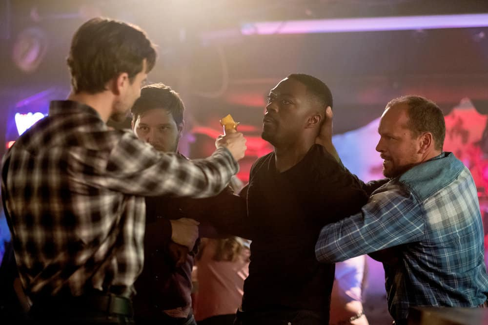 "FALLING WATER -- ""Risk Assessment"" Episode 209 -- Pictured: David Ajala as Burton -- (Photo by: Iden Ford/USA Network)"