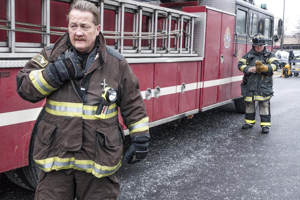 "CHICAGO P.D. -- ""Profiles"" Episode 516 -- Pictured: Christian Stolte as Mouch -- (Photo by: Matt Dinerstein/NBC)"