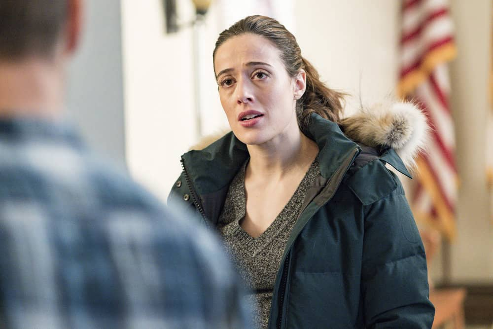 "CHICAGO P.D. -- ""Profiles"" Episode 516 -- Pictured: Marina Squerciati as Kim Burgess -- (Photo by: Matt Dinerstein/NBC)"