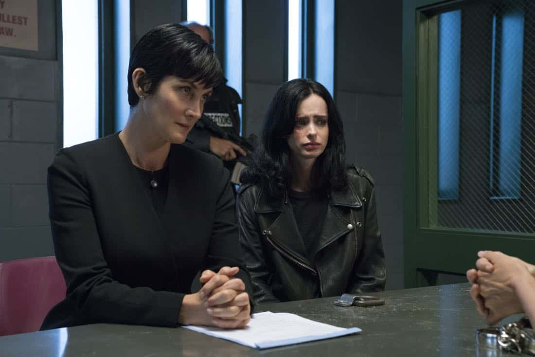 Carrie-Anne Moss & Krysten Ritter Marvel's Jessica Jones Season 2 | Photo Credit : David Giesbrecht/Netflix