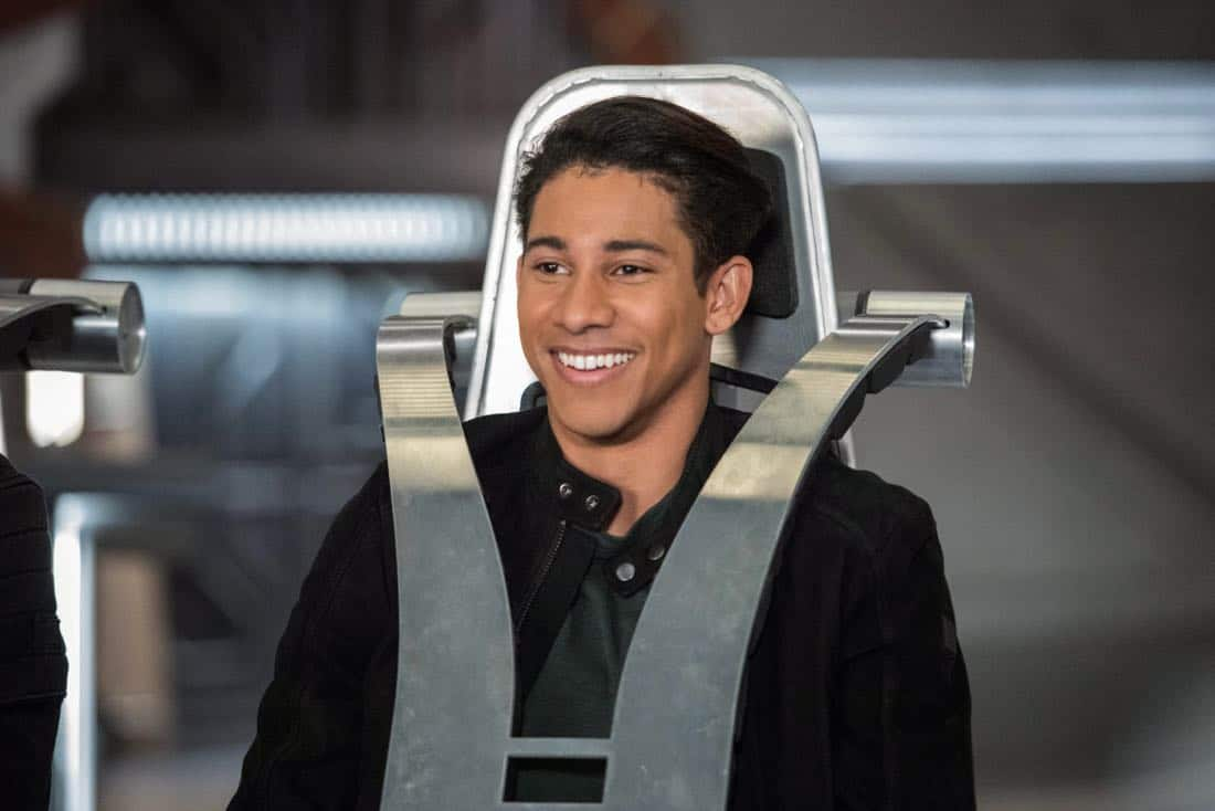 "DC's Legends of Tomorrow -- ""No Country for Old Dads"" -- Image Number: LGN313b_0164b.jpg -- Pictured: Keiynan Lonsdale as Wally West -- Photo: Dean Buscher/The CW -- © 2018 The CW Network, LLC. All Rights Reserved."