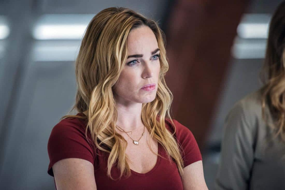 "DC's Legends of Tomorrow -- ""No Country for Old Dads"" -- Image Number: LGN313b_0060b.jpg -- Pictured: Caity Lotz as Sara Lance/White Canary -- Photo: Dean Buscher/The CW -- © 2018 The CW Network, LLC. All Rights Reserved."