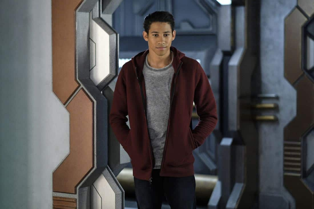 "DC's Legends of Tomorrow -- ""Amazing Grace"" -- Image Number: LGN314a_0090b.jpg -- Pictured: Keiynan Lonsdale as Wally West -- Photo: Robert Falconer/The CW -- © 2018 The CW Network, LLC. All Rights Reserved."