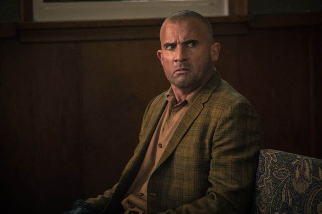 "DC's Legends of Tomorrow -- ""Amazing Grace"" -- Image Number: LGN314b_0063b.jpg -- Pictured: Dominic Purcell as Mick Rory/Heat Wave -- Photo: Jack Rowand/The CW -- © 2018 The CW Network, LLC. All Rights Reserved."