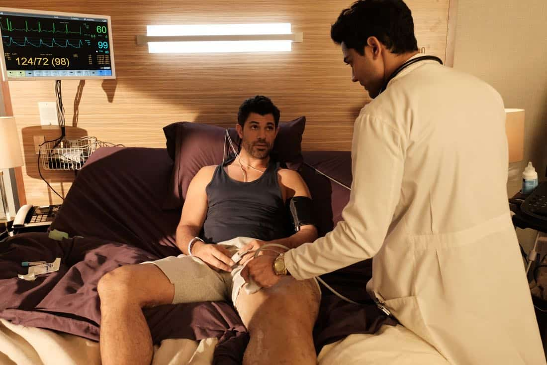 """THE RESIDENT:  L-R: Guest star Damon Dayoub and Manish Dayal in the """"Elopement"""" episode of THE RESIDENT airing Monday, March 12 (9:00-10:00 PM ET/PT) on FOX.  ©2018 Fox Broadcasting Co.  Cr:  Wilford Harewood/FOX"""