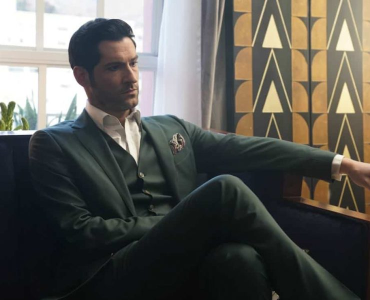 "LUCIFER: Tom Ellis in the ""Let Pinhead Sing"" episode of LUCIFER airing Monday, March 12 (8:00-9:00 PM ET/PT) on FOX. CR: Erik Voake/FOX"