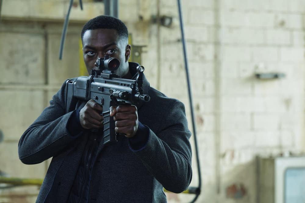"FALLING WATER -- ""The Art of the Deal"" Episode 210 -- Pictured: David Ajala as Burton -- (Photo by: Ben Mark Holzberg/USA Network)"