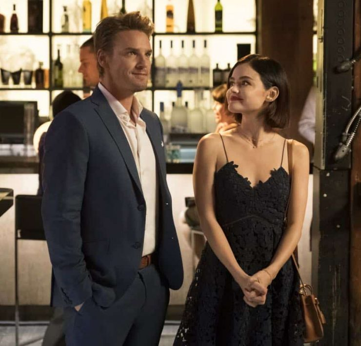 "Life Sentence -- ""Clinical Trial and Error"" -- Image Number: LFS104a_0458.jpg -- Pictured (L-R): Riley Smith as Dr. Will Grant and Lucy Hale as Stella -- Photo: Michael Courtney/The CW -- © 2017 The CW Network, LLC. All rights reserved."