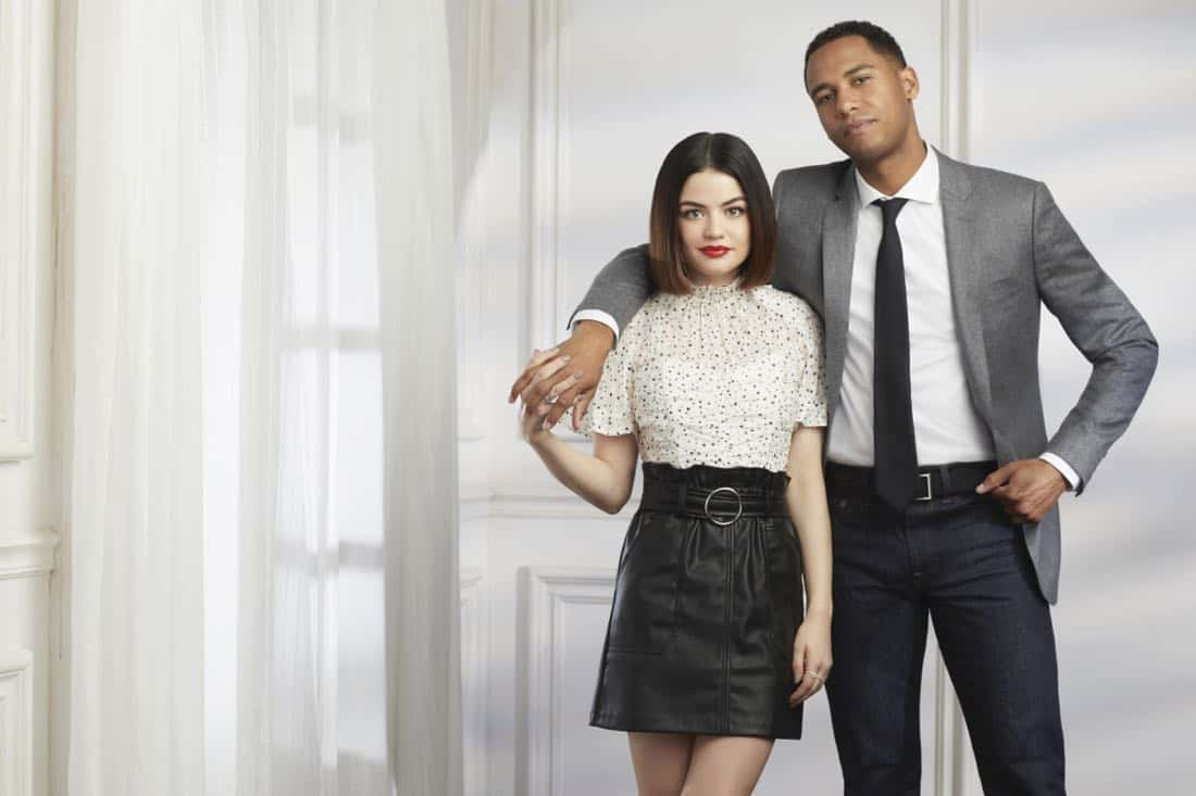 Life Sentence -- Image Number: LFS1_LucyElliot_0070.jpg -- Pictured (L-R): Lucy Hale and Elliot Knight -- Photo: Nino Mu--oz/The CW -- © 2018 The CW Network, LLC. All Rights Reserved.
