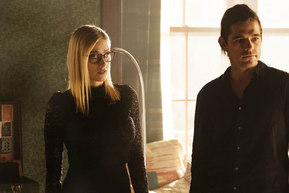 "THE MAGICIANS -- ""All That Josh"" Episode 309 -- Pictured: (l-r) Olivia Taylor Dudley as Alice, Jason Ralph as Quentin Coldwater -- (Photo by: Eric Milner/Syfy)"