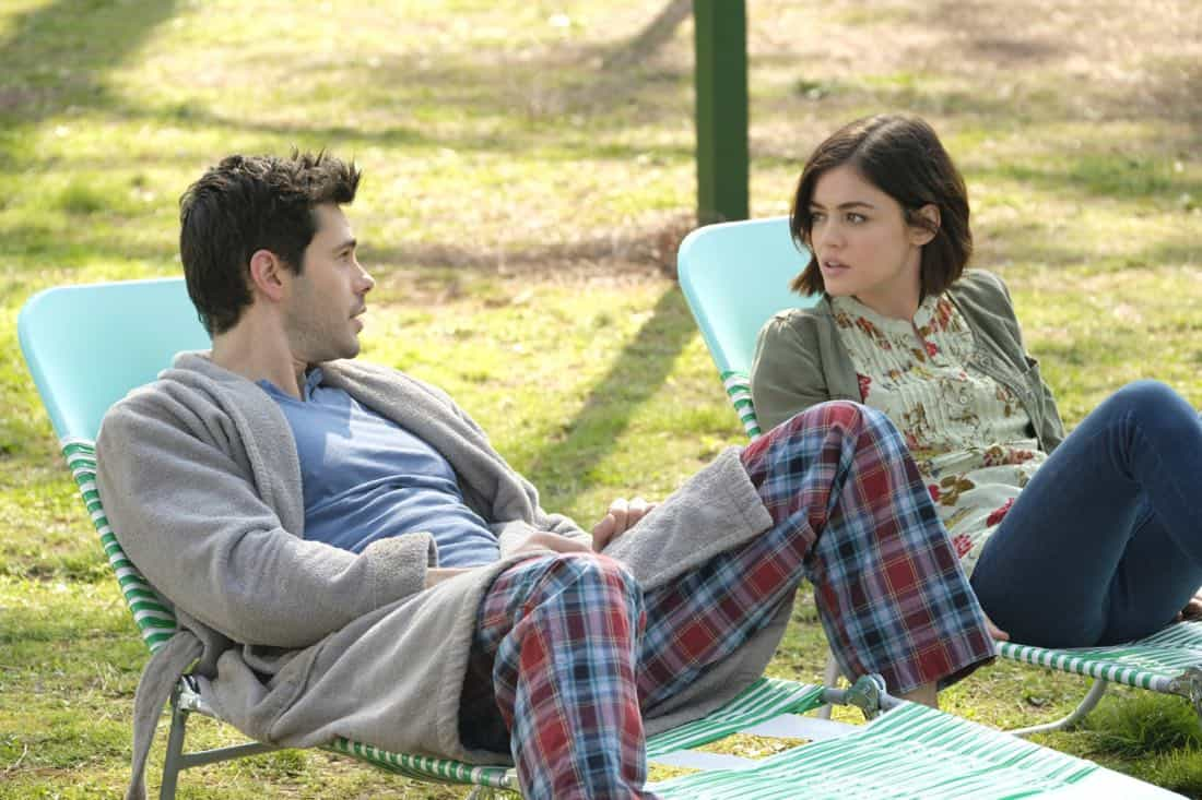 "Life Sentence -- ""Pilot"" -- Image Number: LFS101c_0062.jpg -- Pictured (L-R): Jayson Blair as Aiden and Lucy Hale as Stella -- Photo: Mark Hill/The CW -- © 2018 The CW Network, LLC. All rights reserved."