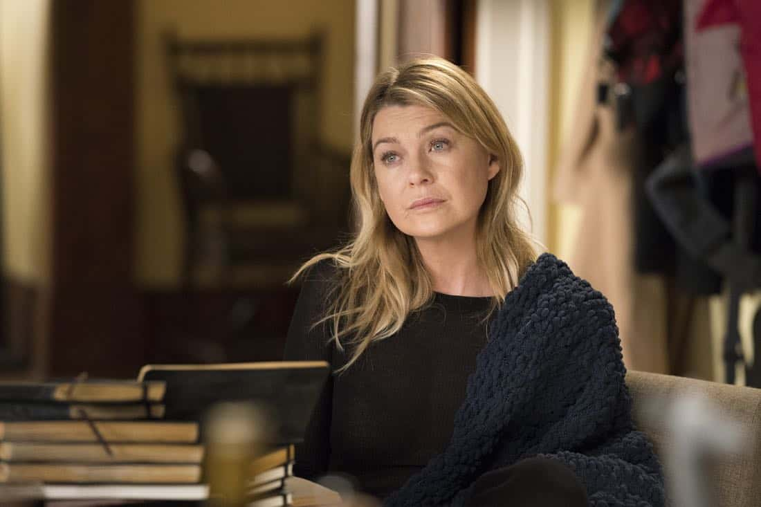 "GREY'S ANATOMY - ""Old Scars, Future Hearts"" - Meredith tries to learn more about Marie Cerone's history with her mother. Meanwhile, Jo is applying for fellowships around the country and it throws Alex for a loop; and Tom Koracick helps April acknowledge her crisis of faith, on ""Grey's Anatomy,"" THURSDAY, MARCH 15 (8:00-9:00 p.m. EDT), on The ABC Television Network. (ABC/Mitch Haaseth) ELLEN POMPEO"