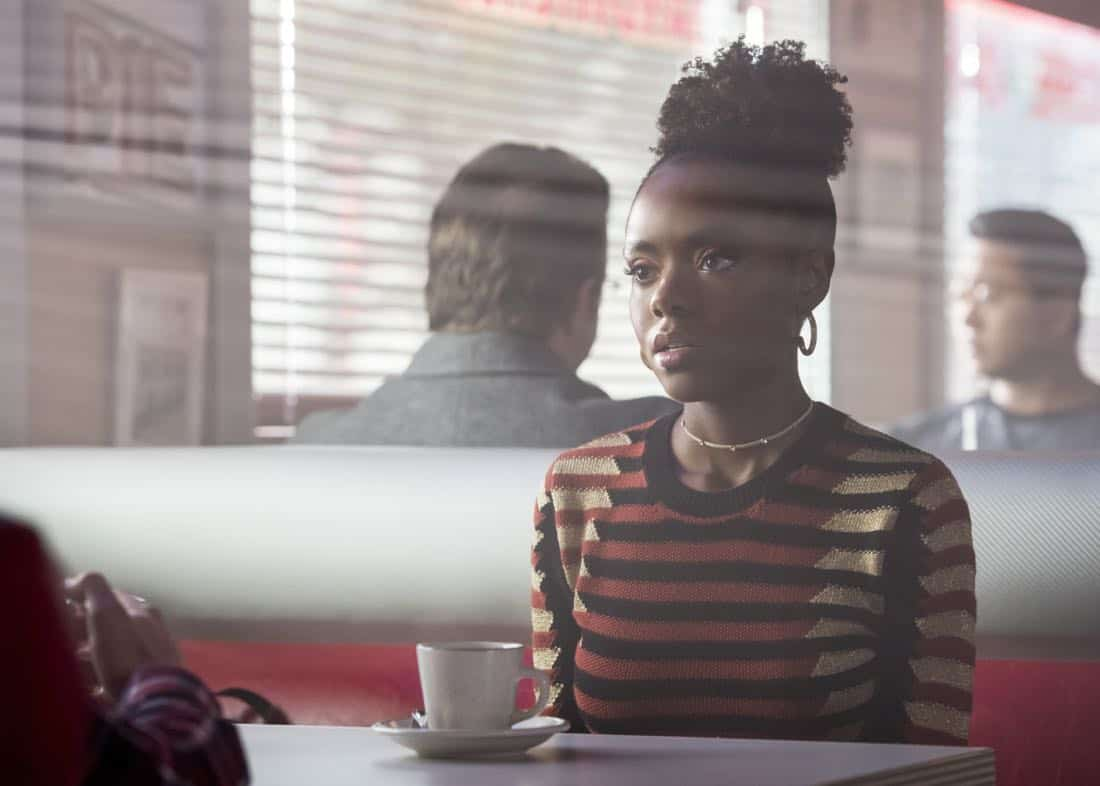"""Riverdale -- """"Chapter Twenty-Seven: The Hills Have Eyes"""" -- Image Number: RVD214a_0030.jpg -- Pictured: Ashleigh Murray as Josie -- Photo: Dean Buscher/The CW -- © 2018 The CW Network, LLC. All rights reserved."""
