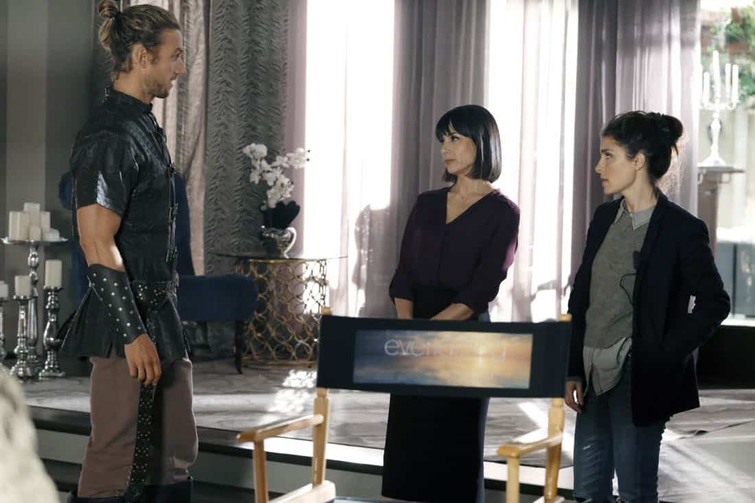 UnREAL (L to R) Adam Demos, Constance Zimmer and Shiri Appleby star in Season 3 of Lifetime's hit drama UnREAL, airing Monday, March 12, 2018 at 10pm ET/PT. Photo by Bettina Strauss Copyright 2018