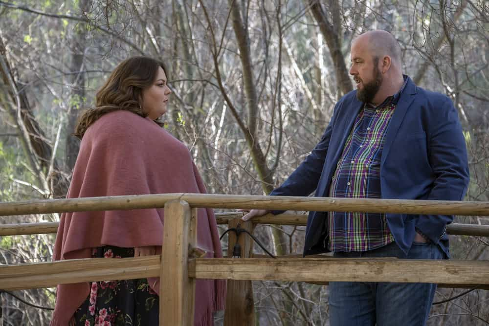 "THIS IS US -- ""The Wedding"" Episode 218 -- Pictured: (l-r) Chrissy Metz as Kate, Chris Sullivan as Toby -- (Photo by: Ron Batzdorff/NBC)"