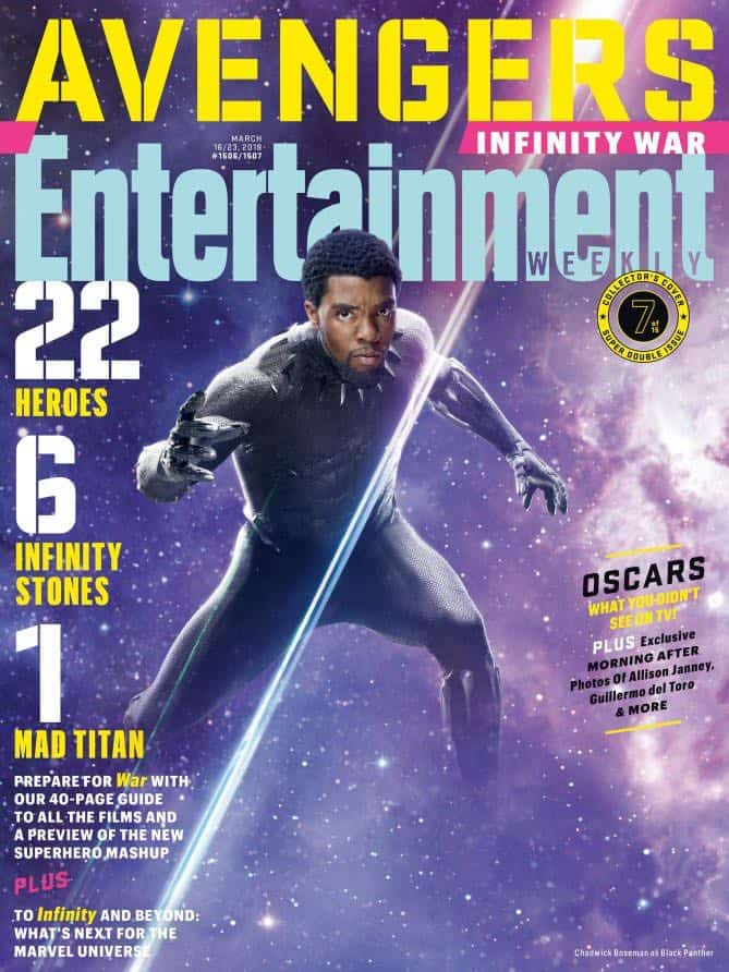 AVENGERS: INFINITY WAR Entertainment Weekly Cover Black Panther