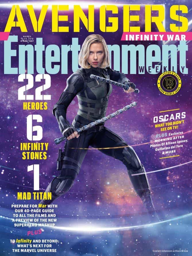 AVENGERS: INFINITY WAR Entertainment Weekly Cover Black Widow