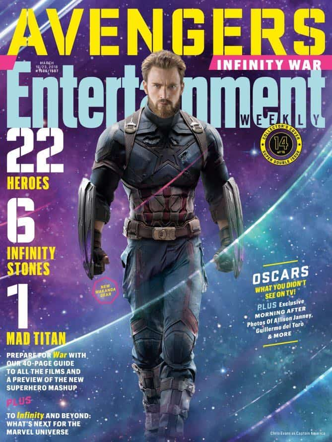 AVENGERS: INFINITY WAR Entertainment Weekly Cover Captain America