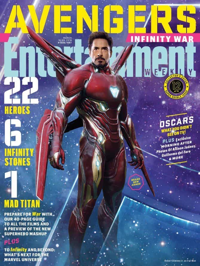 AVENGERS: INFINITY WAR Entertainment Weekly Cover Iron Man