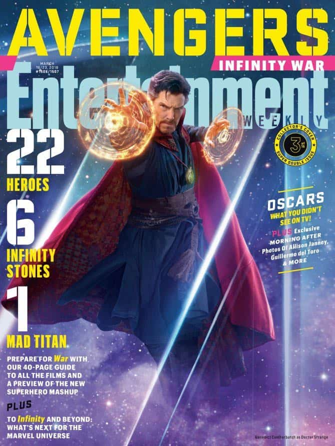AVENGERS: INFINITY WAR Entertainment Weekly Cover Doctor Strange