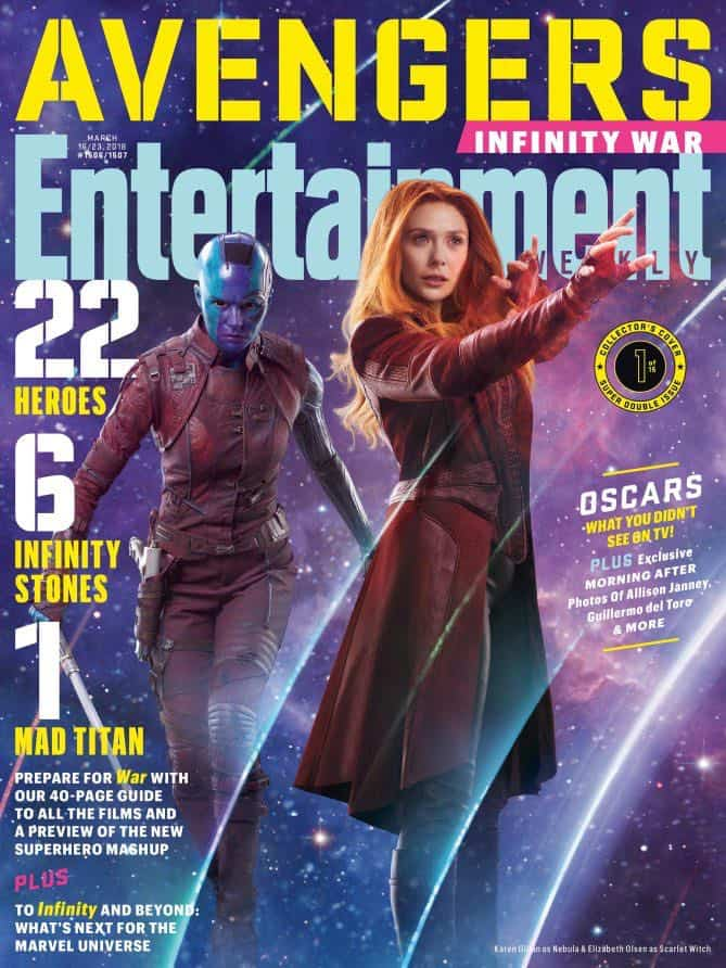 AVENGERS: INFINITY WAR Entertainment Weekly Cover Nebula & Scarlet Witch