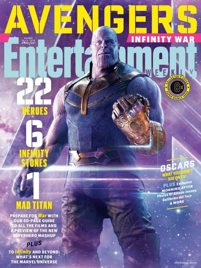 AVENGERS: INFINITY WAR Entertainment Weekly Cover Thanos