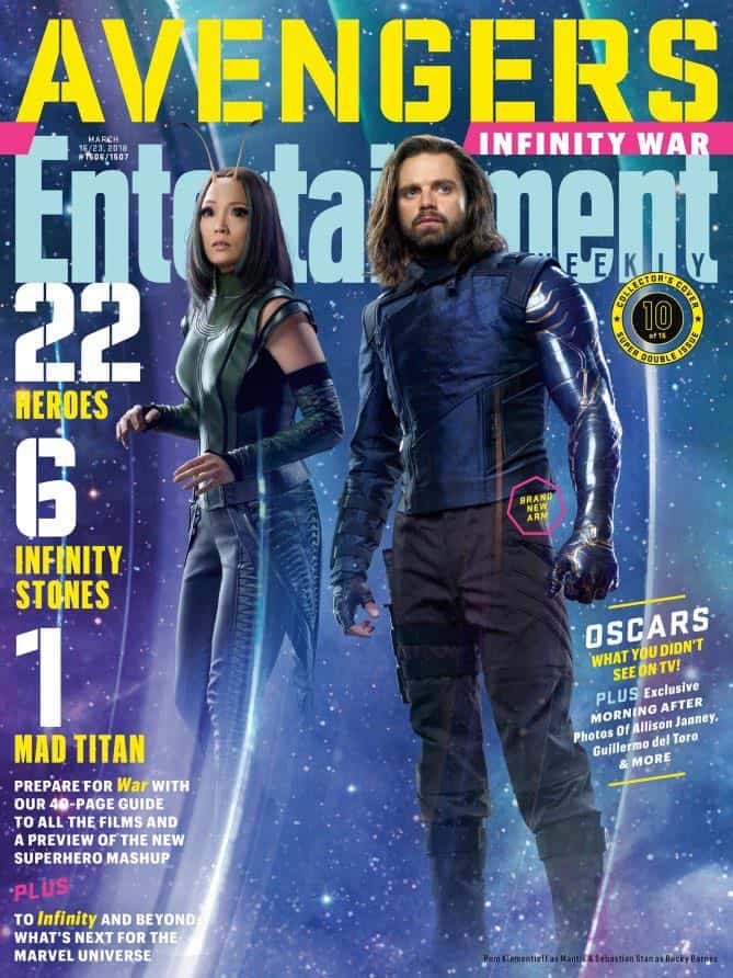 AVENGERS: INFINITY WAR Entertainment Weekly Cover Mantis and Bucky Barnes