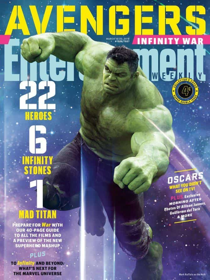AVENGERS: INFINITY WAR Entertainment Weekly Cover Hulk