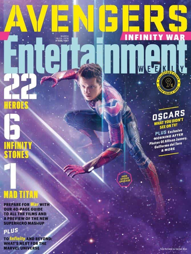 AVENGERS: INFINITY WAR Entertainment Weekly Cover Spider-man