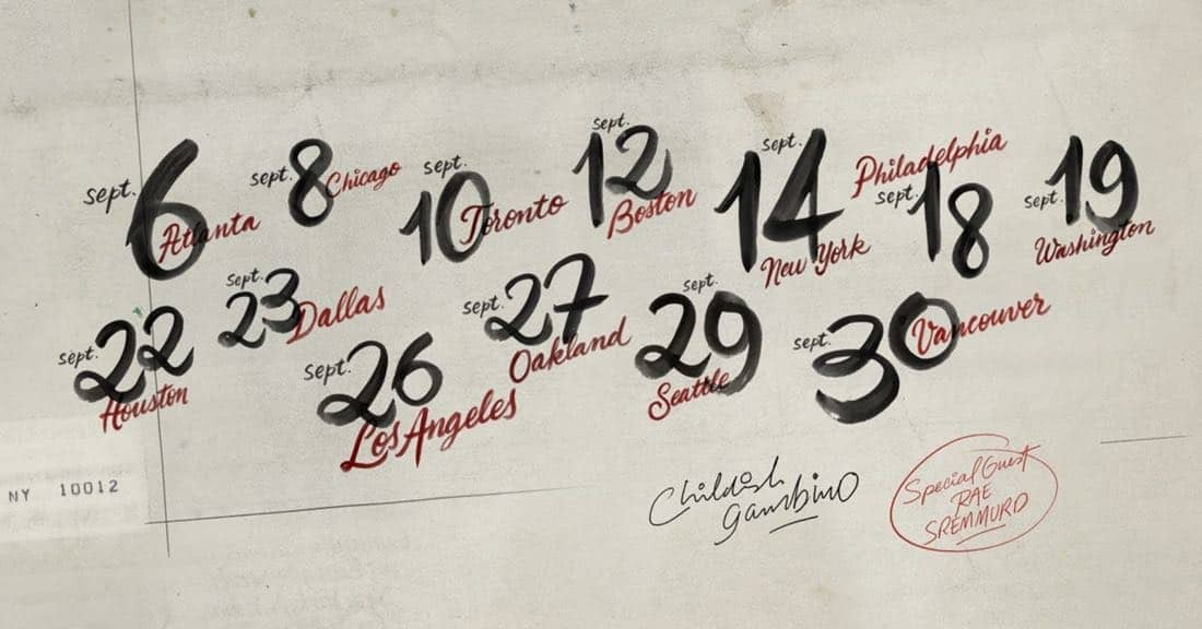 Childish Gambino Unveils 2018 North American Tour With Special Guest Rae Sremmurd (PRNewsfoto/Live Nation Entertainment)