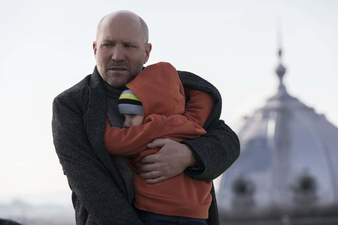 """Three Wishes"" -- When Eric's daughter is kidnapped, he must fulfill three ransom demands from his long-time adversary, Damien Delaine (Carlo Rota), which include answering a series of emotionally challenging questions and performing ethically questionable tasks, in order to save what matters to him most -- his daughter's life -- on the second season premiere of RANSOM, Saturday, April 7 (8:00-9:00 PM, ET/PT) on the CBS Television Network.      Pictured: Robert B. Kennedy (Armin Farber), Zalán Szántó (Tad Farber)    Photo: Dávid Lukács © 2018 Ransom Television Productions Inc."
