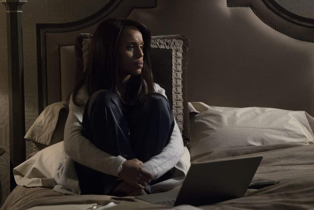 "Scandal - ""The List"" - After Air Force Two's extraordinary safe landing, Cyrus takes his victory lap as America's newest hero, and Mellie demands that the Oval stop at nothing until justice is served. Meanwhile, Liv tries to bridge the gap with the Gladiators by disclosing her theory behind the hijack and Cyrus's true intentions, on ""Scandal,"" airing THURSDAY, MARCH 15 (9:00-10:00 p.m. EDT), on The ABC Television Network. (ABC/Richard Cartwright) KERRY WASHINGTON"
