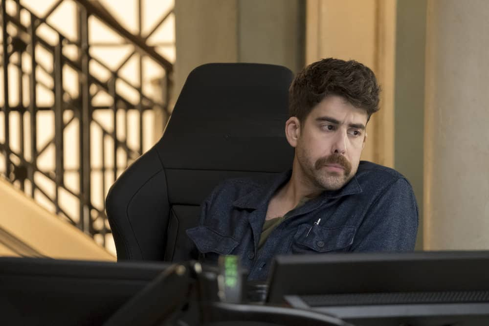 "TAKEN -- ""Invitation Only"" Episode 207 -- Pictured: Adam Goldberg as Kilroy -- (Photo by: Panagiotis Pantazidis/NBC)"