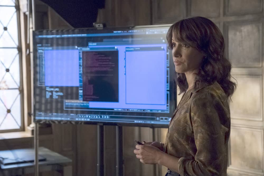"TAKEN -- ""Invitation Only"" Episode 207 -- Pictured: Jennifer Beals as Christina Hart -- (Photo by: Panagiotis Pantazidis/NBC)"