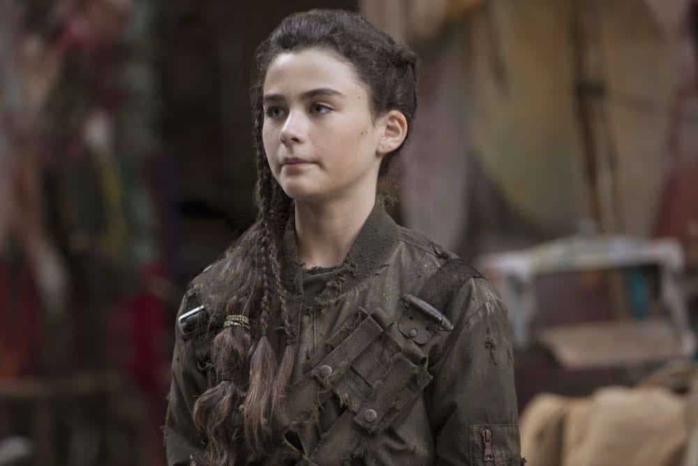 "The 100 -- ""Eden"" -- Image Number: HUN501a_0498.jpg -- Pictured: Lola Flanery as Madi -- Photo: Jack Rowand/The CW -- © 2018 The CW Network, LLC. All rights reserved."