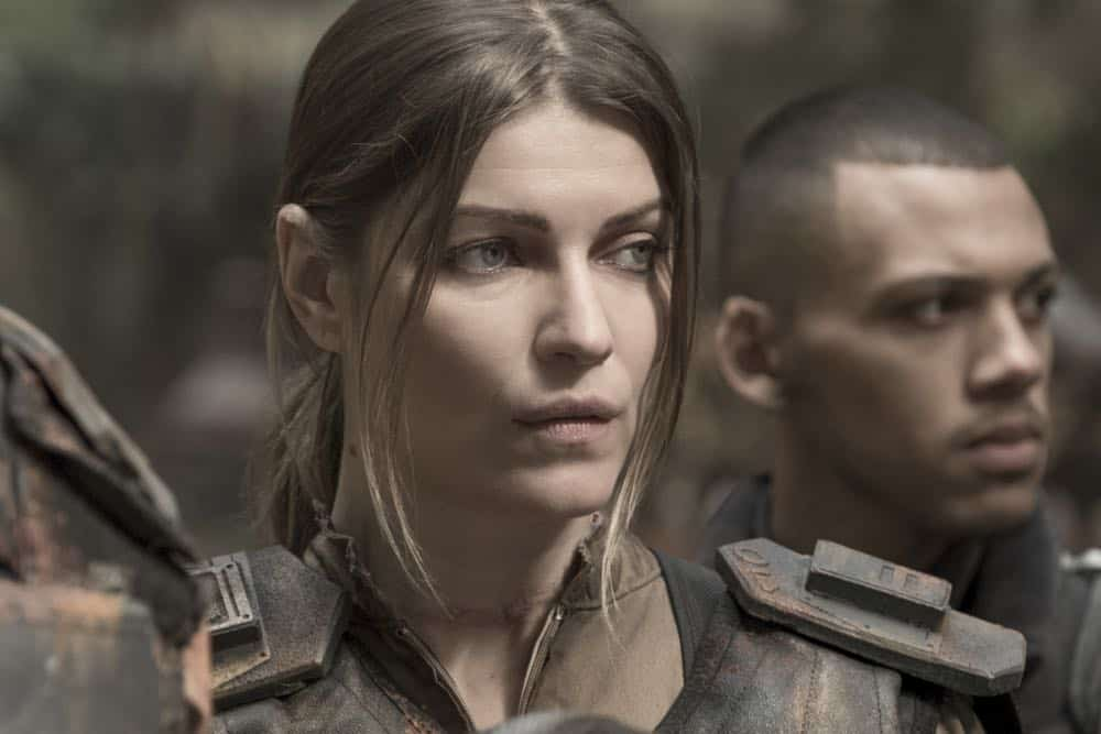 "The 100 -- ""Eden"" -- Image Number: HUN501b_0033.jpg -- Pictured: Ivana Milicevic as Diyoza -- Photo: Katie Yu/The CW -- © 2018 The CW Network, LLC. All rights reserved."