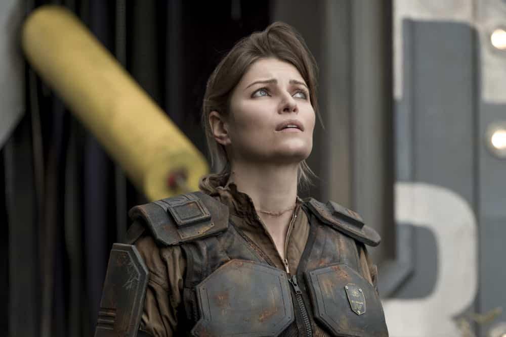 "The 100 -- ""Eden"" -- Image Number: HUN501b_0243.jpg -- Pictured: Ivana Milicevic as Diyoza -- Photo: Katie Yu/The CW -- © 2018 The CW Network, LLC. All rights reserved."