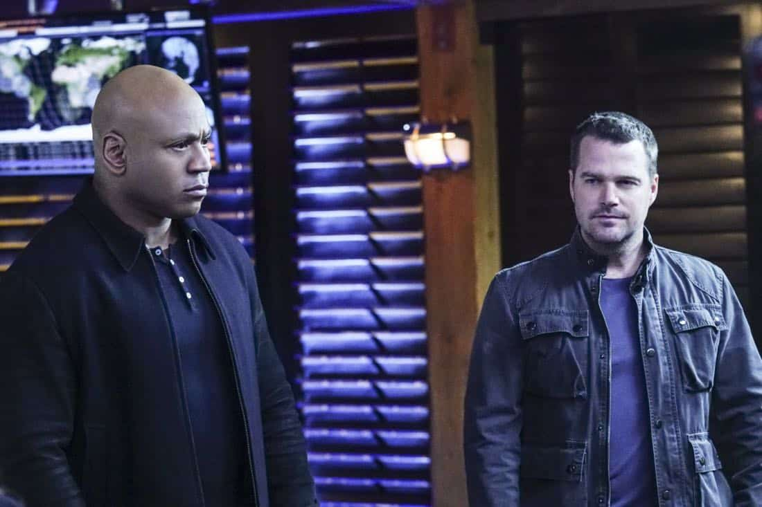 """""""Liabilities"""" - Pictured: LL COOL J (Special Agent Sam Hanna) and Chris O'Donnell (Special Agent G. Callen). Callen and Sam pull Granger's daughter, former spy Jennifer Kim (Malese Jow), from witness protection to help the team locate an underground spy who has obtained an arsenal of bomb materials, on NCIS: LOS ANGELES, Sunday, March 18 (9:00-10:00 PM, ET/PT) on the CBS Television Network. Photo: Monty Brinton/CBS ©2017 CBS Broadcasting, Inc. All Rights Reserved."""
