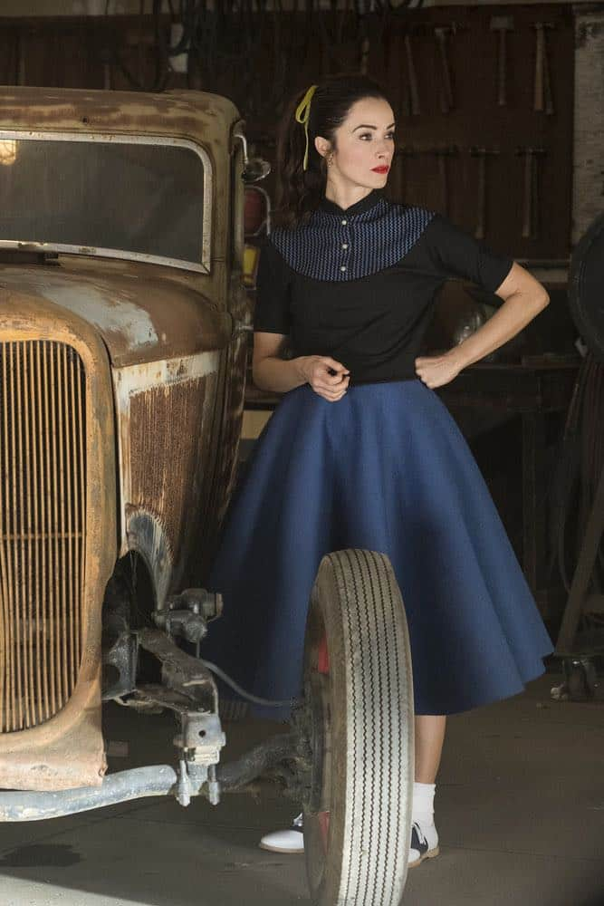 "TIMELESS -- ""Darlington"" Episode 202 -- Pictured: Abigail Spencer as Lucy Preston -- (Photo by: Justin Lubin/NBC)"