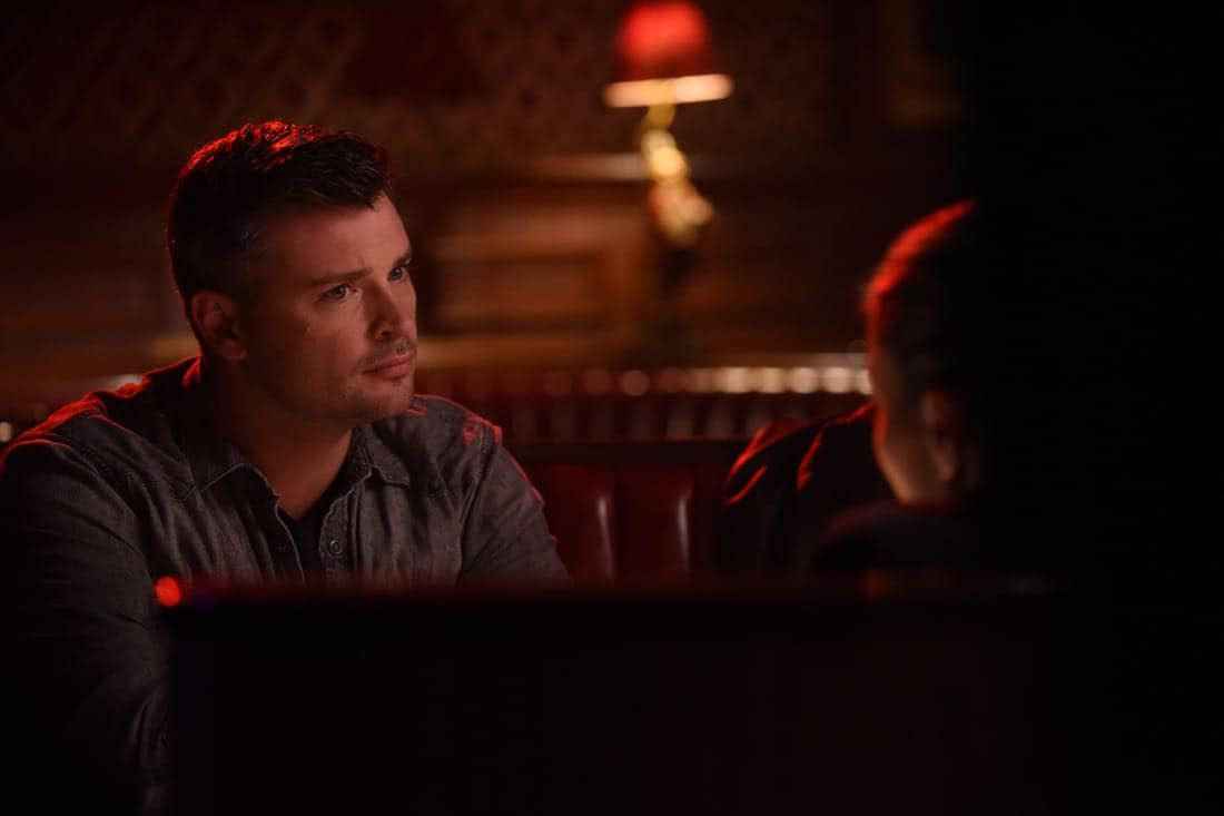 """LUCIFER: Tom Welling in the """"The Last Heartbreak"""" episode of LUCIFER airingMonday, March 19 (8:00-9:00 PM ET/PT) on FOX. CR: Ray MickshawFOX"""