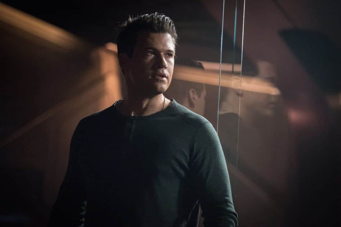"DC's Legends of Tomorrow -- ""Necromancing the Stone"" -- Image Number: LGN315a_0314b.jpg -- Pictured: Nick Zano as Nate Heywood/Steel -- Photo: Dean Buscher/The CW -- © 2018 The CW Network, LLC. All Rights Reserved."