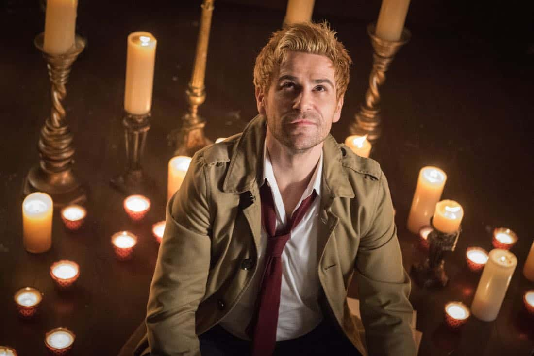 "DC's Legends of Tomorrow -- ""Necromancing the Stone"" -- Image Number: LGN315b_0294.jpg -- Pictured: Matt Ryan as Constantine -- Photo: Dean Buscher/The CW -- © 2018 The CW Network, LLC. All Rights Reserved."