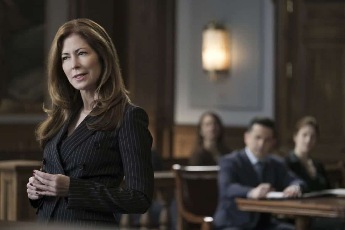 """Bad Medicine"" -- Bull helps a doctor who crossed state lines to purchase a marijuana-derived oil to treat her patients in Virginia, where the oil is illegal. But the case is complicated when Assistant U.S. Attorney Sylvia Banner (Dana Delany) has the DEA arrest her for possession with intent to distribute, on BULL, Tuesday, March 27 (9:00-10:00PM, ET/PT), on the CBS Television Network. Pictured L-R: Dana Delany as Sylvia Banner and Freddy Rodriguez as Benny Colón Photo: Jojo Whilden/CBS ©2018 CBS Broadcasting, Inc. All Rights Reserved"