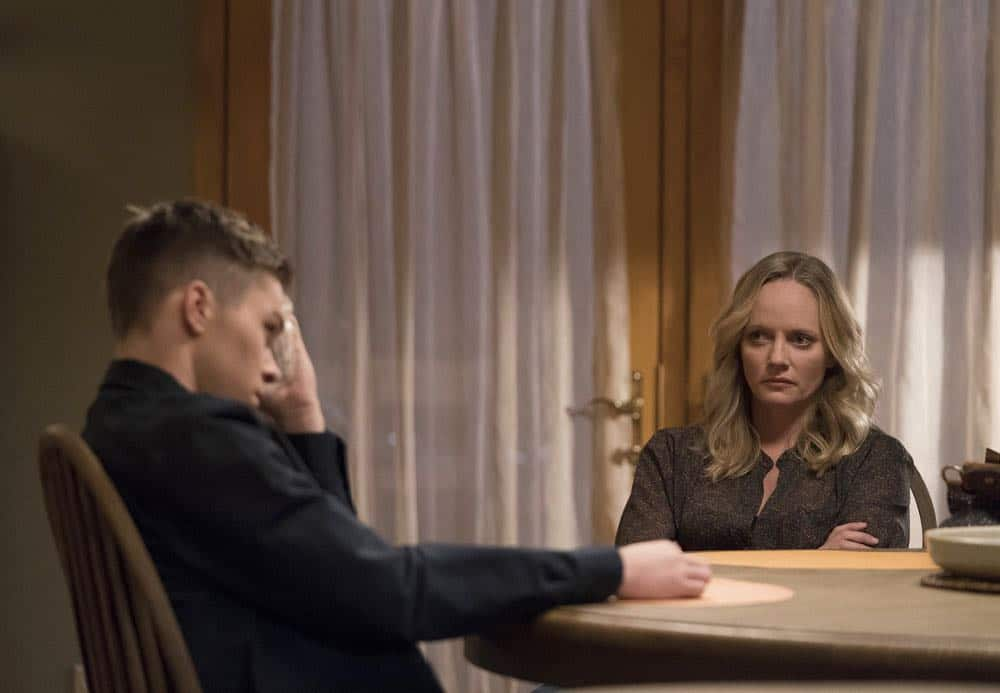 "RISE -- ""Most of All to Dream"" Episode 102 -- Pictured: (l-r) Casey Johnson as Gordy Mazzuchelli, Marley Shelton as Gail Mazzuchelli -- (Photo by: Peter Kramer/NBC)"