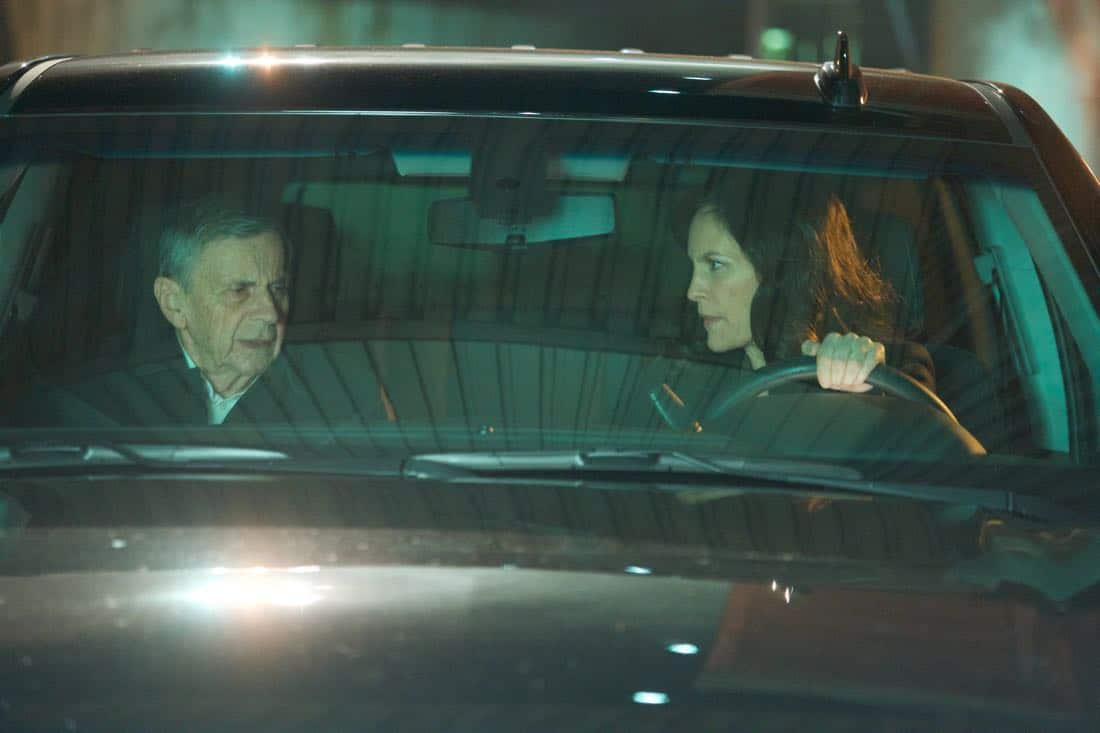 "THE X-FILES:  L-R:  Guest star William B. Davis and guest star Annabeth Gish in the ""My Struggle IV"" season finale episode of THE X-FILES airing Wednesday, March 21 (8:00-9:00 PM ET/PT) on FOX. ©2018 Fox Broadcasting Co.  Cr:  Shane Harvey/FOX"
