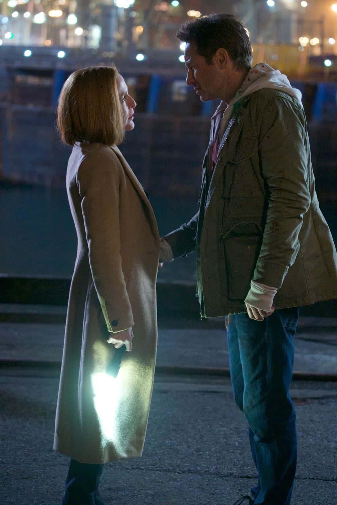 "THE X-FILES:  L-R: Gillian Anderson and David Duchovny in the ""My Struggle IV"" season finale episode of THE X-FILES airing Wednesday, March 21 (8:00-9:00 PM ET/PT) on FOX. ©2018 Fox Broadcasting Co.  Cr:  Shane Harvey/FOX"