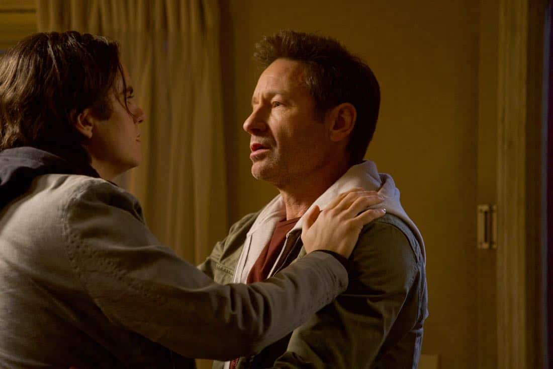 "THE X-FILES:  L-R:  Guest star Miles Robbins and David Duchovny in the ""My Struggle IV"" season finale episode of THE X-FILES airing Wednesday, March 21 (8:00-9:00 PM ET/PT) on FOX. ©2018 Fox Broadcasting Co.  Cr:  Shane Harvey/FOX"